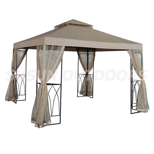 outdoor lawn patio metal roof gazebo