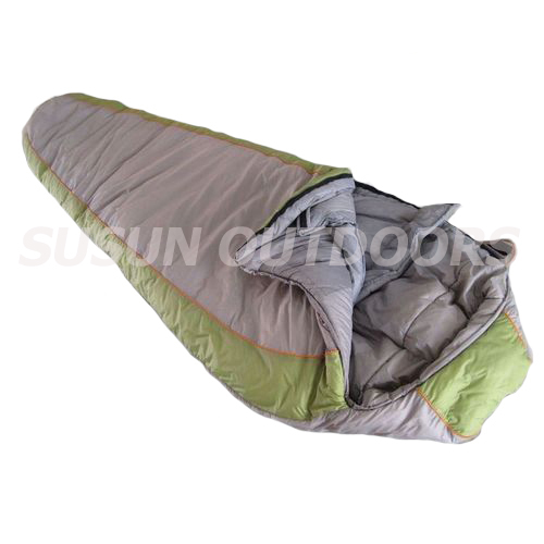 double layer mummy sleeping bag