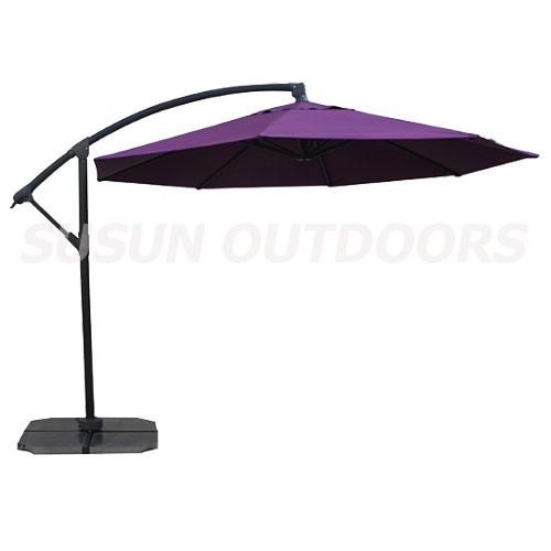 garden steel round banana umbrella