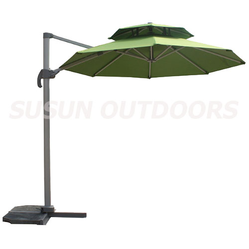 double roofs patio umbrella