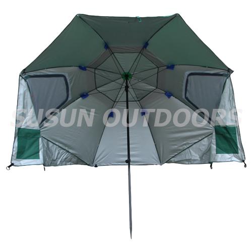 UV resistant sun umbrella with silver coating